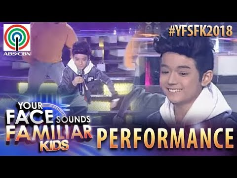 Your Face Sounds Familiar Kids 2018: Marco Masa as Iñigo Pascual   Dahil Sa'yo