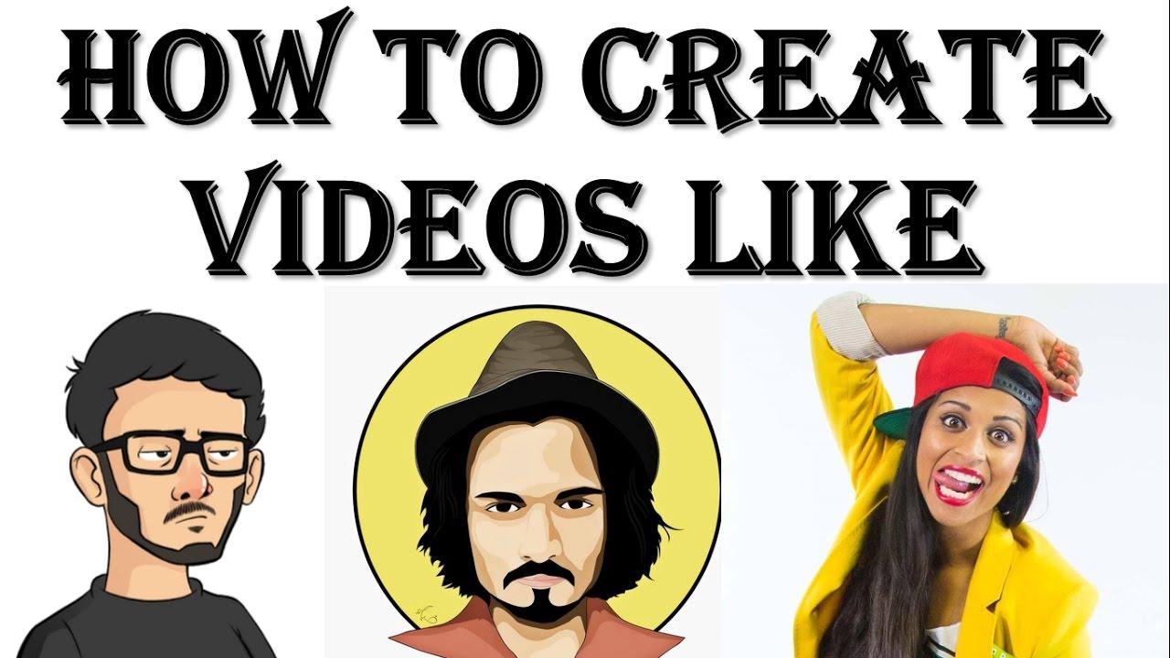 {hindi} How To Create Edit Or Make Videos Like Bb Ki Vines, Harsh Beniwal,  Carry Minati, Superwoman✔