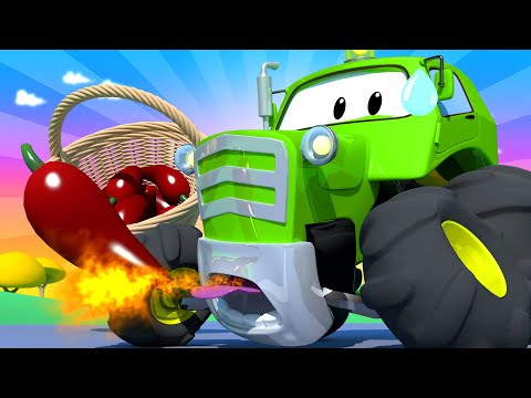 Amber the Ambulance   Ben The Tractor Ate a Very Hot Chilli!  Car City ! Trucks Cartoon for kids