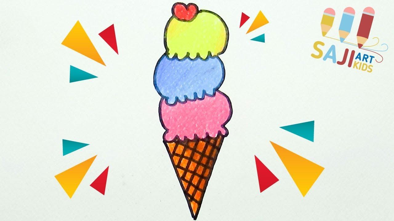 วาดร ประบายส ไม สวยๆ วาดร ปไอต มโคน How To Draw An Ice Cream Cone St การจ ดระเบ ยบสม ดบ นท ก ร ปถ าย