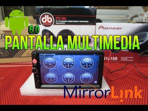 PANTALLA MULTIMEDIA / MIRROR LINK /CAR PLAYER DY7098 / GEARBEST.COM