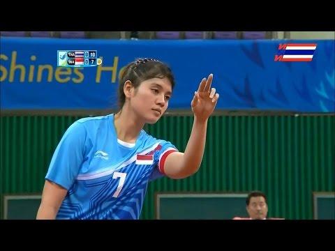 Thailand - Indonesia 2014 ASIAN GAMES SEPAKTAKRAW -Semifinal