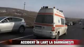 Accident în lanţ la Dărmăneşti