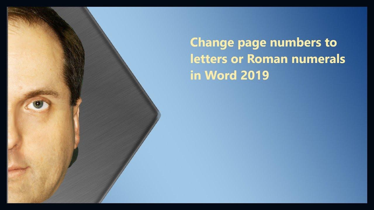 roman numerals 2019