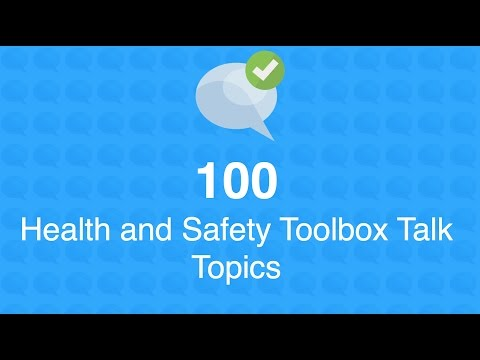 100 Health and Safety Toolbox Talk Topics - YouTube