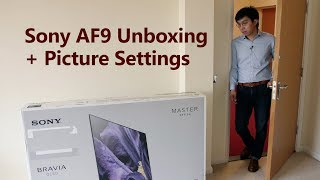 Sony AF9/ A9F OLED TV Unboxing + Picture Settings