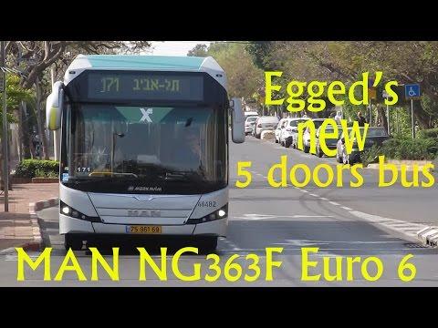 Egged New 5 Door BRT Bus Ride 04.2015