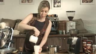 Příprava latte macchiato s Petrou Veselou