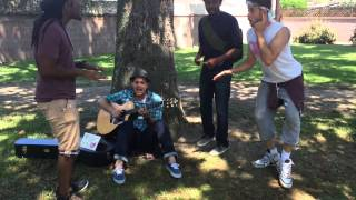 AWESOME JAM SESSION RUINED by a random IDIOT! (KICKS GIRL!!!!)