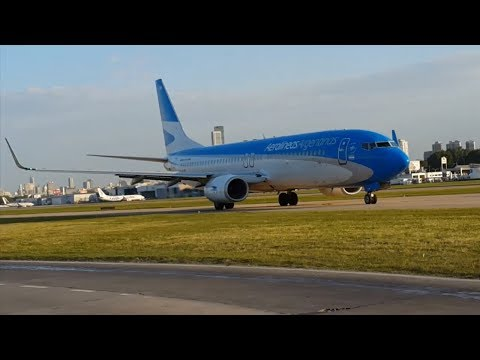 Late afternoon plane spotting at Aeroparque Jorge Newbery/AEP/SABE