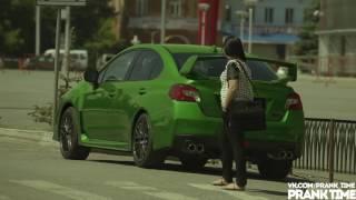 Subaru WRX STI 2015 меняет цвет  Розыгрыш в Уфе   Color changing car  Prank in Ufa