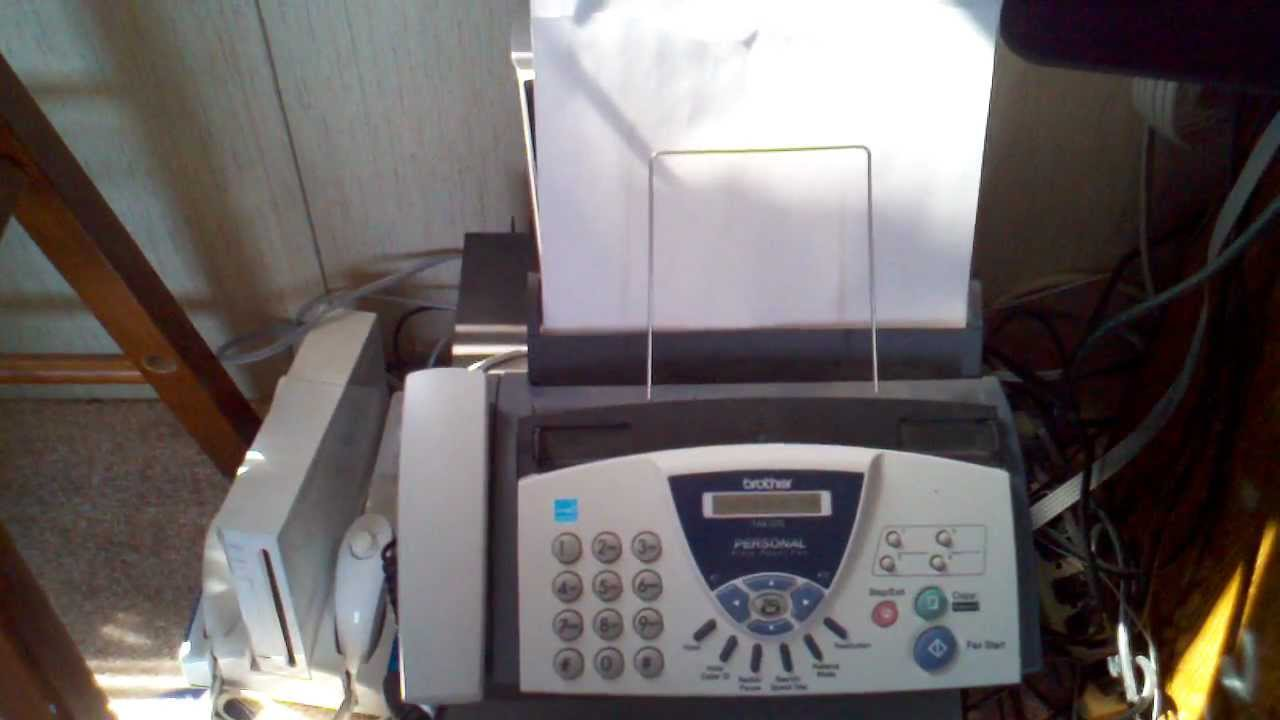 brother fax 575 fax machine youtube