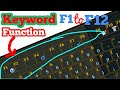 How to Use Function Keys F1 to F12 on the Keyboard | Use of Computer function key F1 to F12