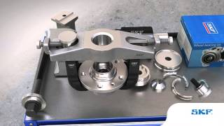 SKF - How to mount and dismount wheel bearings using the SKF tool VKN 600, VKN 601 and VKN 602-1