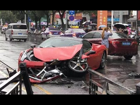 Woman In China Crashes 650 000 Ferrari On Her Way Out Of The Dealership Ferrari 458 Youtube