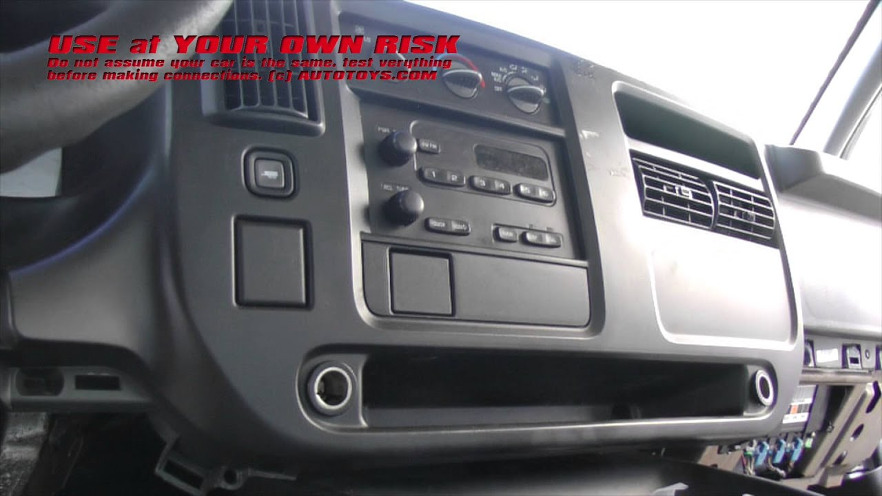 gmc savannah radio installation