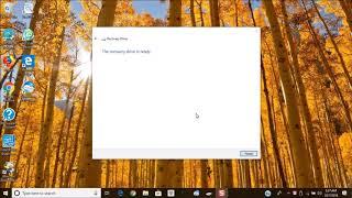 Create a Windows 8/10 Recovery Drive (BIOS)