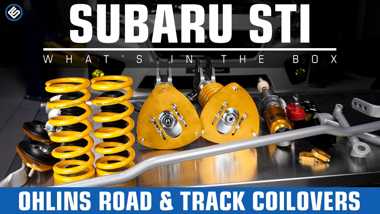 Ohlins road track coilovers 2008 2014 subaru sti install review youtube