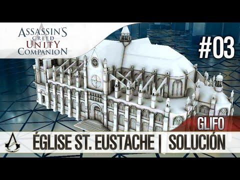 Assassin's Creed Unity Companion APP | Guía Localización Glifos | Église ST. Eustache | Solución