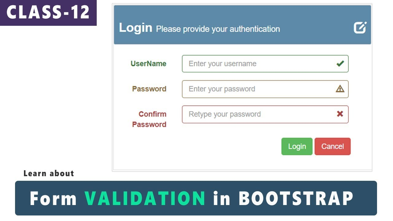 Form validation in bootstrap bootstrap tutorials for beginners form validation in bootstrap bootstrap tutorials for beginnersurduhindi class 12 falaconquin