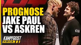 Prognose: Jake Paul vs Ben Askren! Heute Nacht UFC Fighter vs YouTuber
