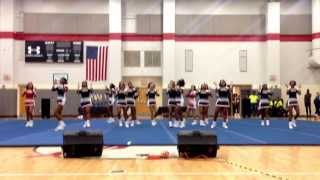 Phillip O. Berry Cheerleaders Stomp and Shake State Champs