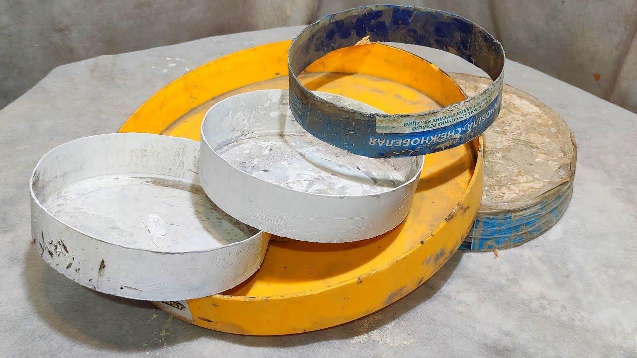 Даже мелкие Обрезки Стройматериалов и пластиковые Ведра удалось превратить в шикарные поделки.