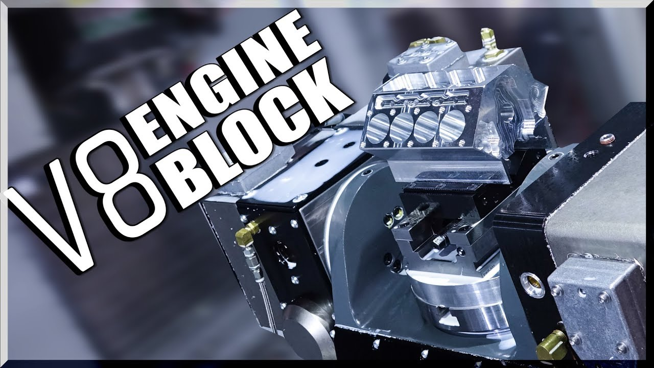 5 Axis Cnc Machined V8 Engine Block