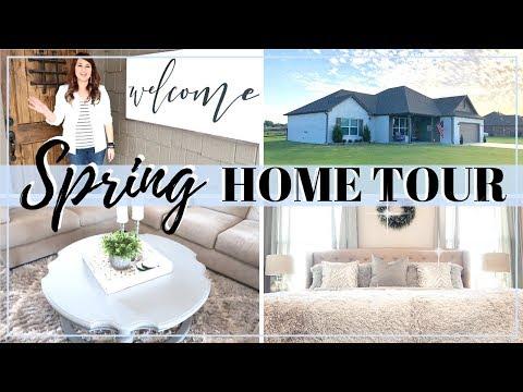 SPRING HOME TOUR 2019   FARMHOUSE GLAM DECOR   ENTIRE HOUSE TOUR