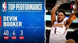 Devin Booker GOES OFF For 40 PTS