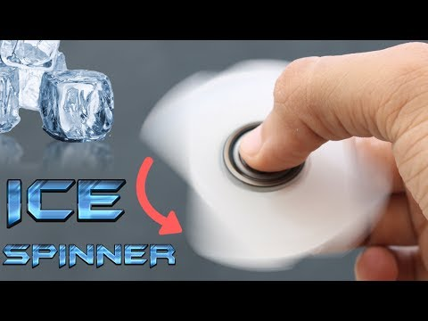 DIY FIDGET SPINNER TOY MADE OF ICE | HAND SPINNER AT HOME