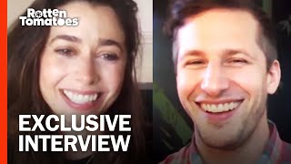 """'Palm Springs' Stars Andy Samberg & Cristin Milioti Would Try """"Crazy S—t"""" If Stuck In a Time Loop"""