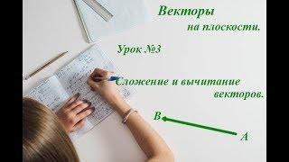 Урок 3. Векторы. Сложение и вычитание векторов. Геометрия 9 класс.