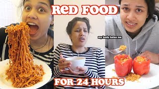 i only ate red food for 24 hours | clickfortaz