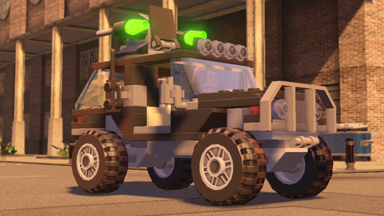 LEGO Marvel's Avengers - All Land Vehicles in Action - YouTube