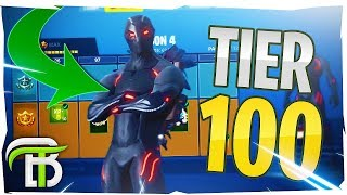 *FIRST LOOK* FORTNITE SEASON 4 BATTLE PASS TIER 100 UNLOCK (OMEGA SKIN)