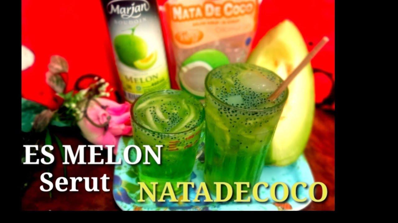 Cara Membuat Es Melon Serut Biji Selasih NataDecoco - YouTube
