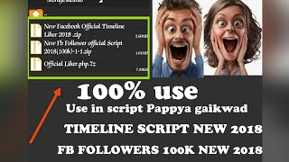 Facebook followers script and timeline script 2018 new script