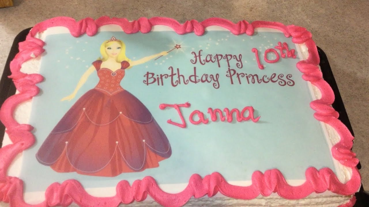 A PRINCESS BIRTHDAY CAKE FOR HAPPY JANNA