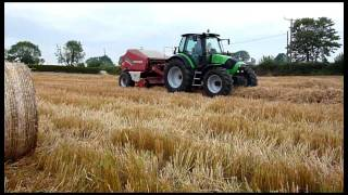 Deutz Fahr M420 and 120 and Two Welger RP235