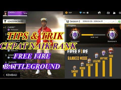 Trik & Tips Push Rank Free Fire Battlegrounds Garena