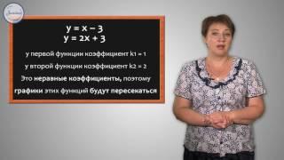 Алгебра 7 класс. Взаимное расположение графиков линейных функций