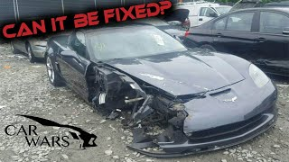 Buying WRECKED Corvette from Copart
