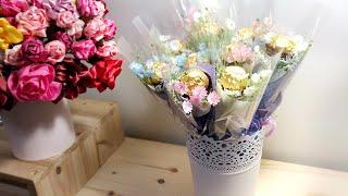 페레로로쉐 초콜릿&사탕 꽃다발 한 송이 미니포장…