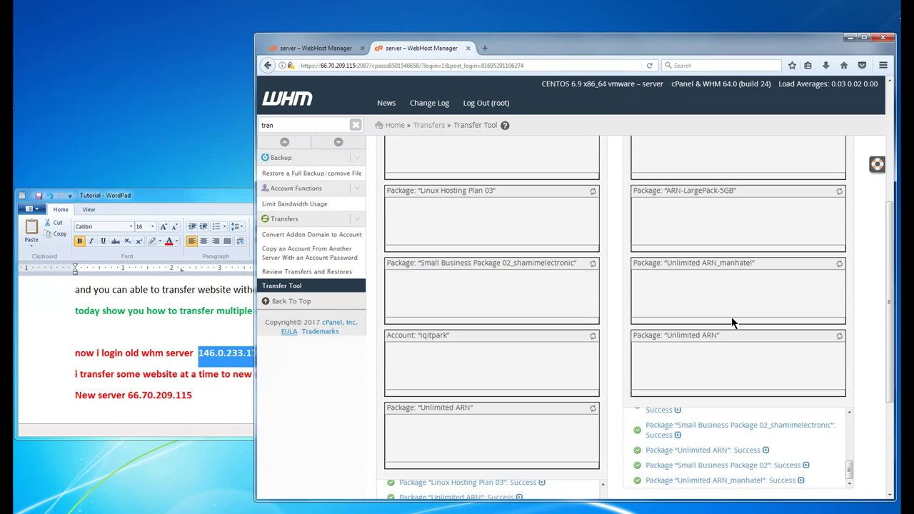 How To Transfer Multiple Website Whm To Whm Cpanel Easy Way To Move
