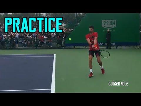 Novak Djokovic First Practice - Shanghai Rolex Masters 2019 (HD)