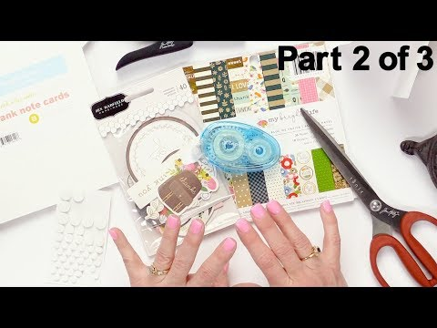 5 Ways To Make Cards Using Scrapbooking Supplies | No Stamps Needed | Part 2 Of 3