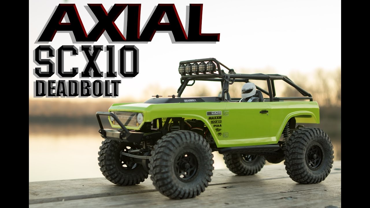 Axial SCX10 Deadbolt RC Rock Crawler Unboxing & First Run | FC Images
