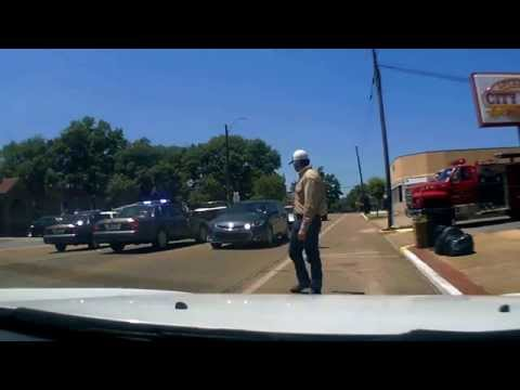 Traffic accident on main street, Lucedale, Mississippi