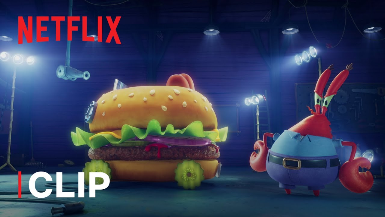 La Krabby Patty mobile in SpongeBob: Amici in Fuga | Netflix Futures